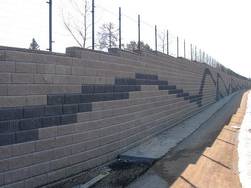 An image of finished block wall in Danville.
